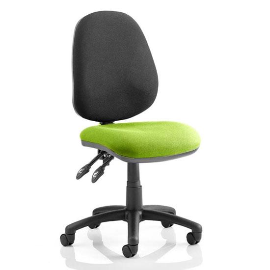 Luna II Black Back Office Chair In Myrrh Green