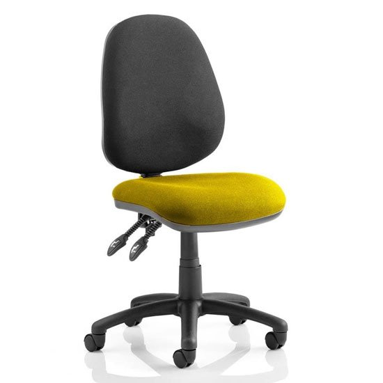 Luna II Black Back Office Chair In Senna Yellow