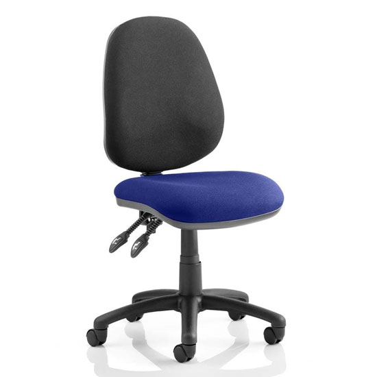 Luna II Black Back Office Chair In Stevia Blue