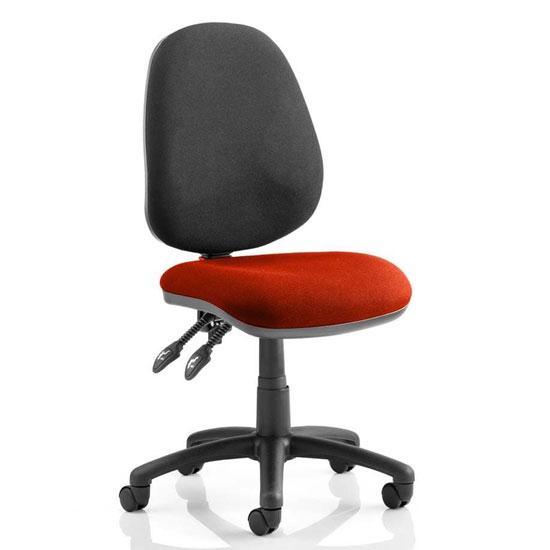 Luna II Black Back Office Chair In Tabasco Red