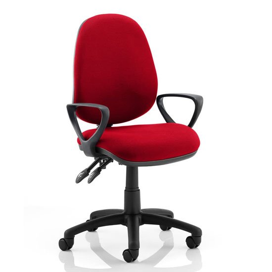 Luna II Office Chair In Bergamot Cherry With Loop Arms