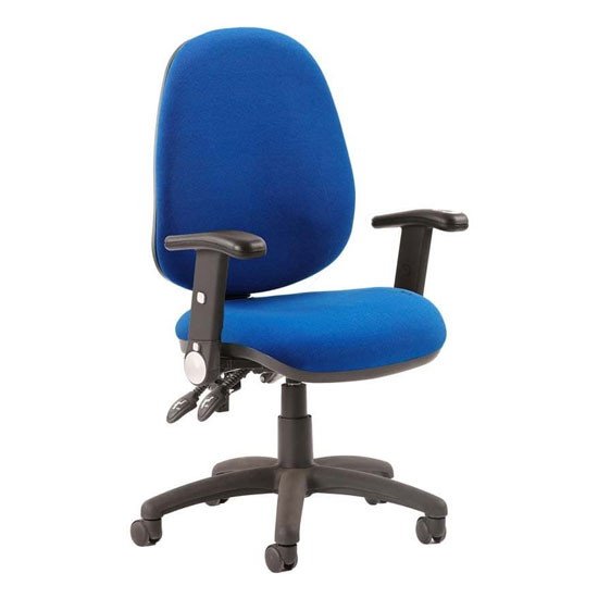 Luna II Office Chair In Blue With Folding Arms