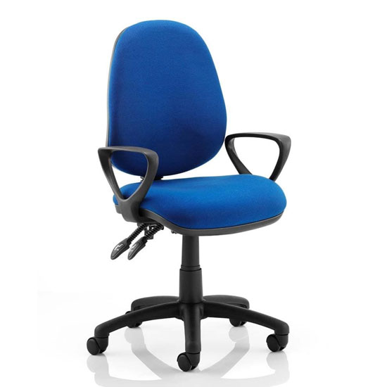 Luna II Office Chair In Blue With Loop Arms