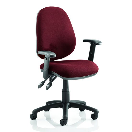 Luna II Office Chair In Ginseng Chilli With Arms