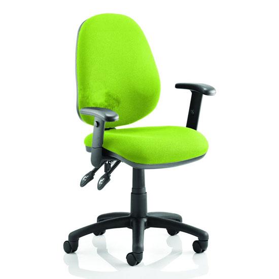 Luna II Office Chair In Myrrh Green With Arms