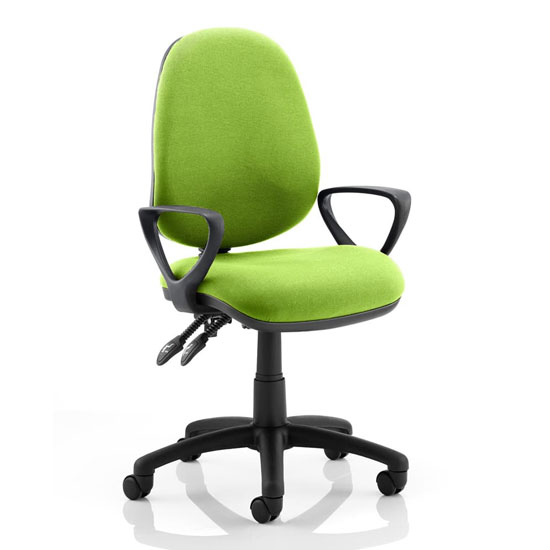 Luna II Office Chair In Myrrh Green With Loop Arms