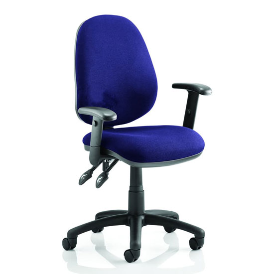Luna II Office Chair In Stevia Blue With Arms