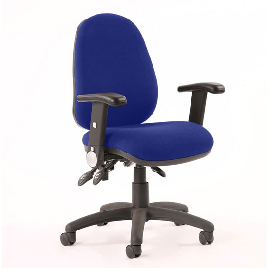 View Luna ii office chair in stevia blue with folding arms
