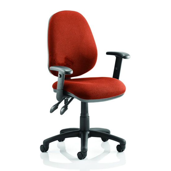 Luna II Office Chair In Tabasco Red With Arms