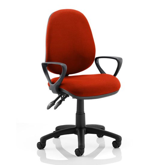 Luna II Office Chair In Tabasco Red With Loop Arms