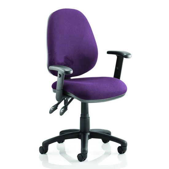 Luna II Office Chair In Tansy Purple With Arms