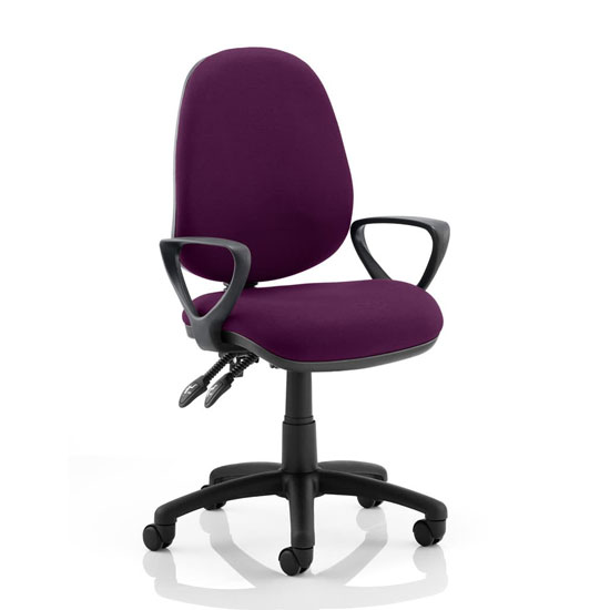 Luna II Office Chair In Tansy Purple With Loop Arms