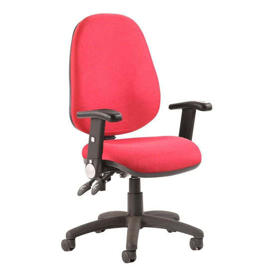 Luna II Office Chair In Wine With Folding Arms