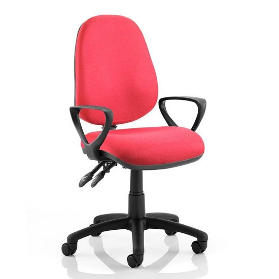 Luna II Office Chair In Wine With Loop Arms