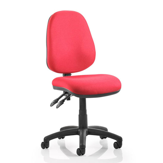 Luna II Office Chair In Wine With No Arms