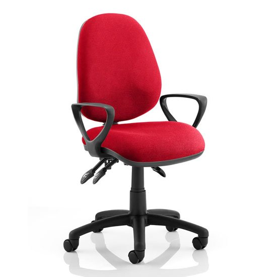 Luna III Office Chair In Bergamot Cherry With Loop Arms