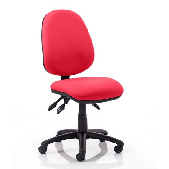 Product photograph showing Luna Iii Office Chair In Bergamot Cherry No Arms