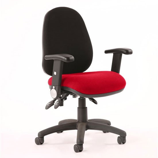 Luna III Office Chair With Bergamot Cherry Seat Folding Arms