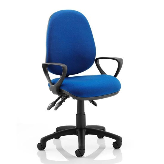 Luna III Office Chair In Blue With Loop Arms