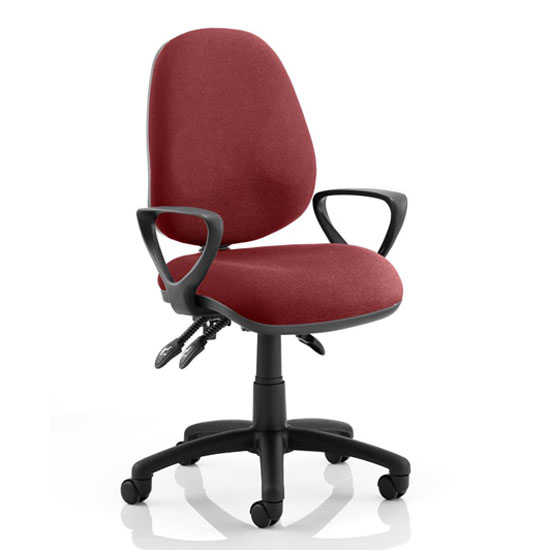 Luna III Office Chair In Ginseng Chilli With Loop Arms