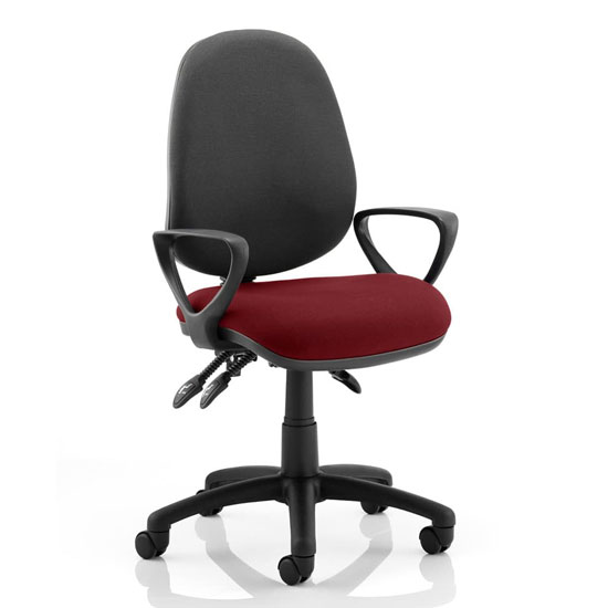 Luna III Office Chair With Ginseng Chilli Seat Loop Arms