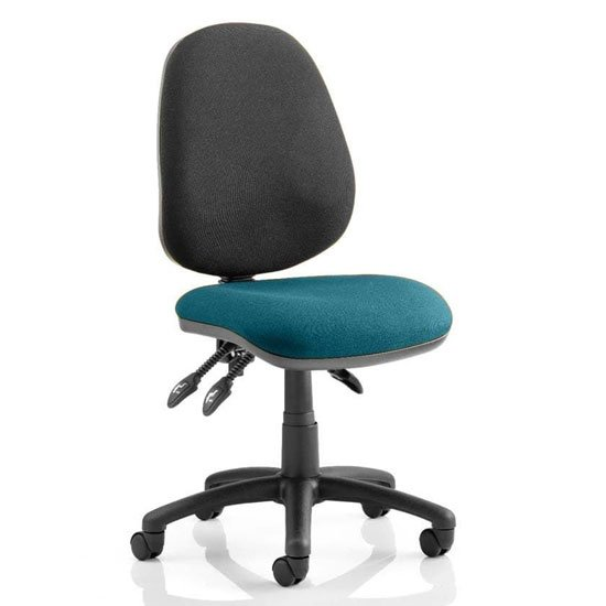 Product photograph showing Luna Iii Office Chair With Maringa Teal Seat No Arms