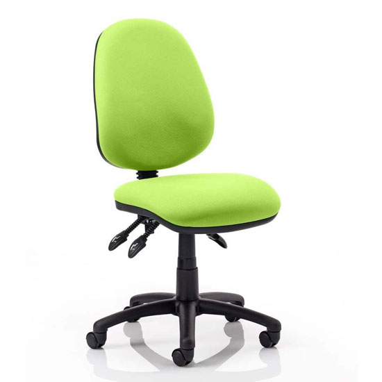 Luna III Office Chair In Myrrh Green No Arms