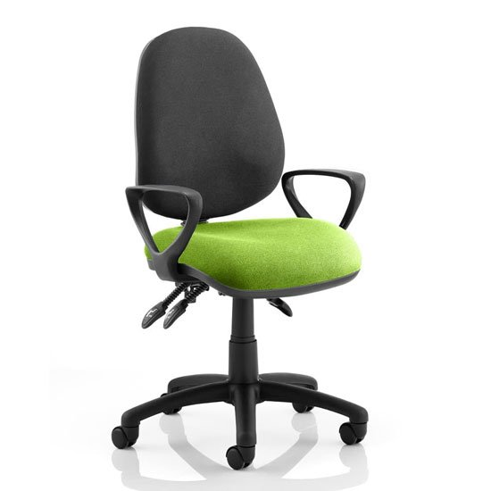 Luna III Office Chair With Myrrh Green Seat Loop Arms