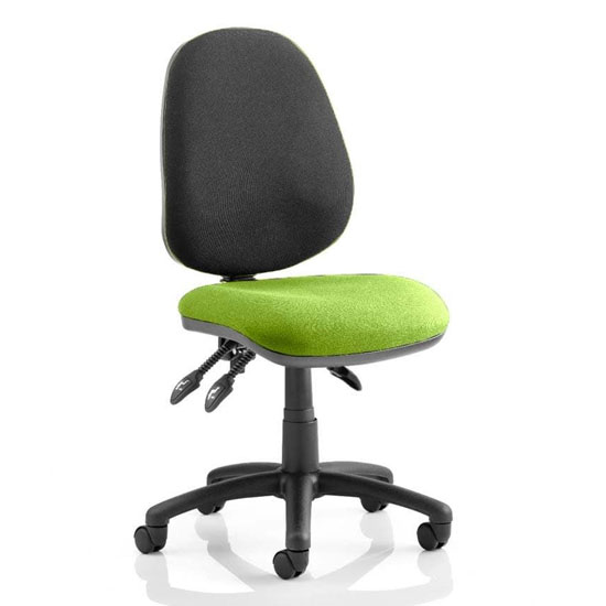 Luna III Office Chair With Myrrh Green Seat No Arms