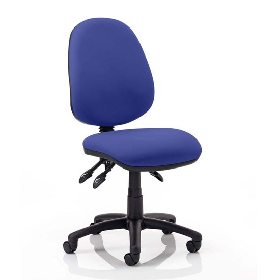 Luna III Office Chair In Stevia Blue No Arms
