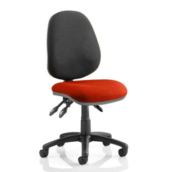 Luna III Office Chair With Tabasco Red Seat No Arms
