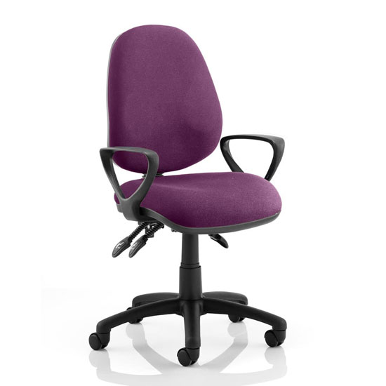 Luna III Office Chair In Tansy Purple With Loop Arms