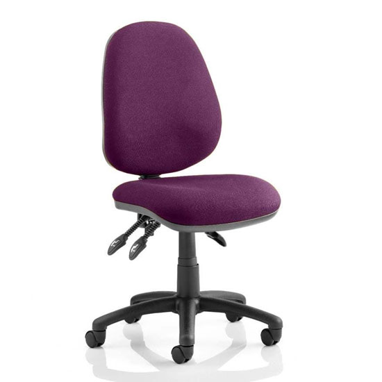 Luna III Office Chair In Tansy Purple No Arms