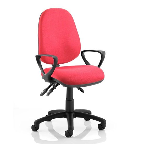 Luna III Office Chair In Wine With Loop Arms