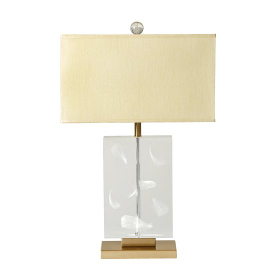 Luna Table Lamp In Taupe With Clear Base
