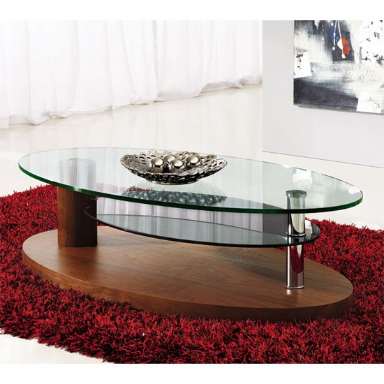 luna coffee table walnut - 4 Popular Designs Of Coffee Tables With Rounded Corners