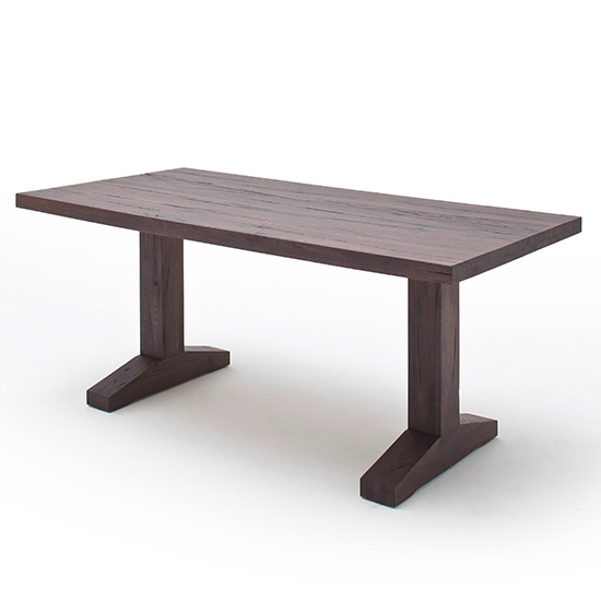 Lunch Wooden Dining Table In Weathered Oak_2