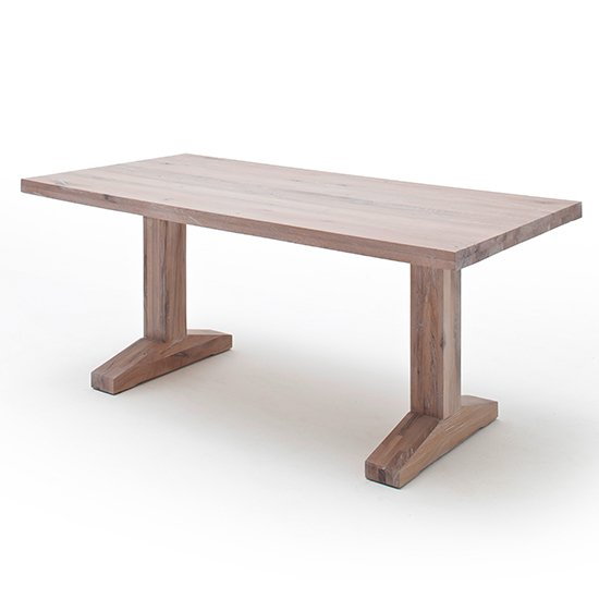 Lunch Wooden Dining Table In Whitewashed Oak_2