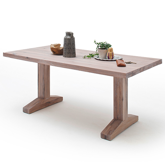 Lunch Wooden Dining Table In Whitewashed Oak_1