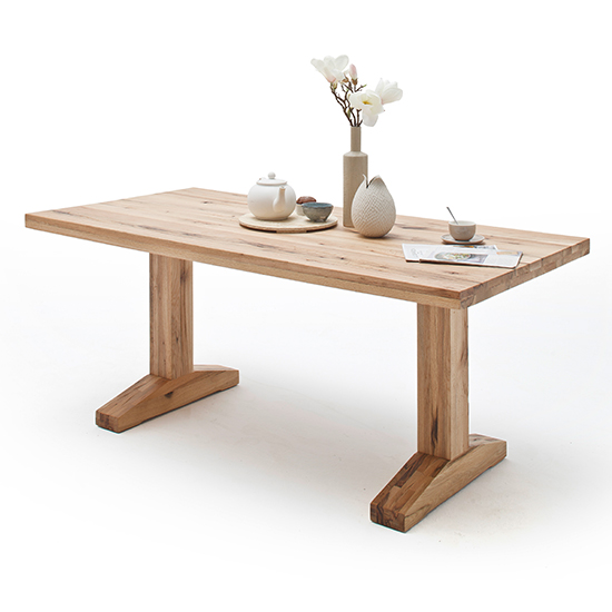 Lunch Wooden Dining Table In Wild Oak