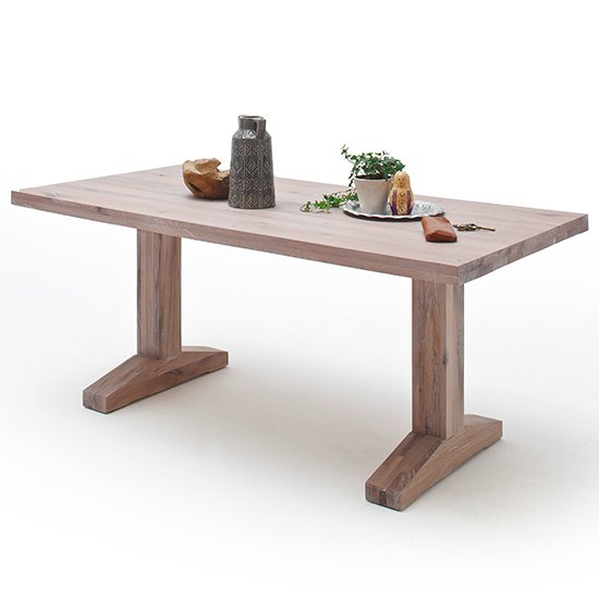 Lunch Small Wooden Dining Table In Whitewashed Oak