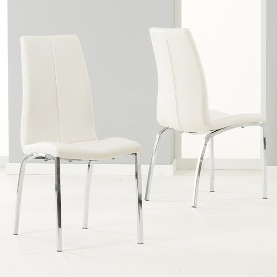 Lupus Ivory Leather Dining Chairs In Pair_1