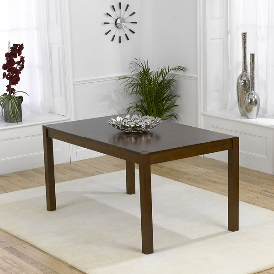 Luzern Wooden Dining Table Rectangular In Dark Oak