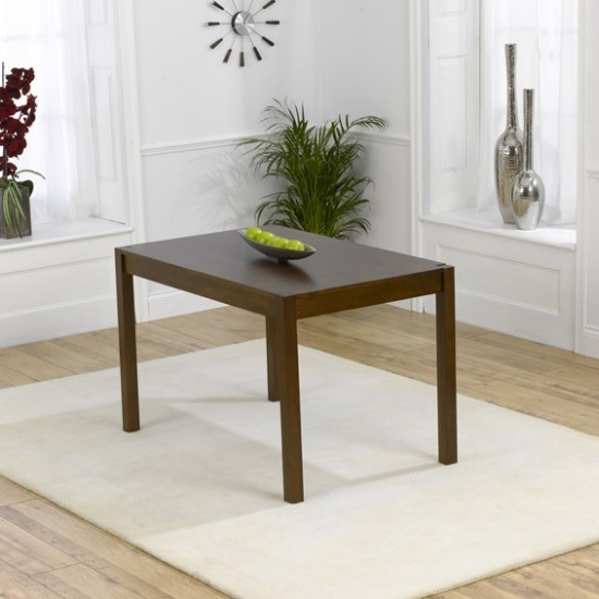 luzern wooden small dining table rectangular in dark oak. Black Bedroom Furniture Sets. Home Design Ideas