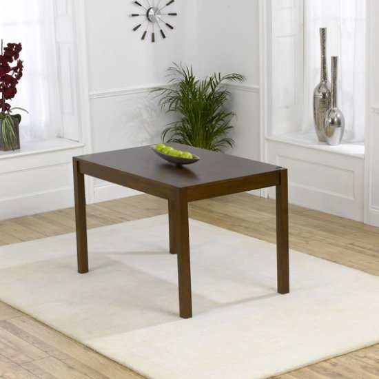 Small Wooden Dining Table: Luzern Wooden Small Dining Table Rectangular In Dark Oak