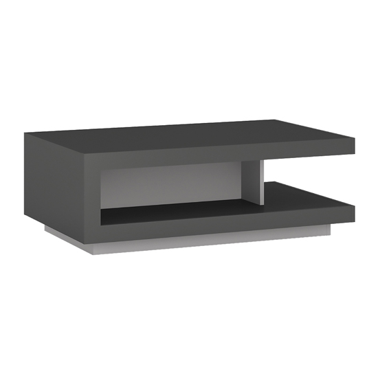 Lyco Wooden Coffee Table In Platinum And Light Grey High Gloss