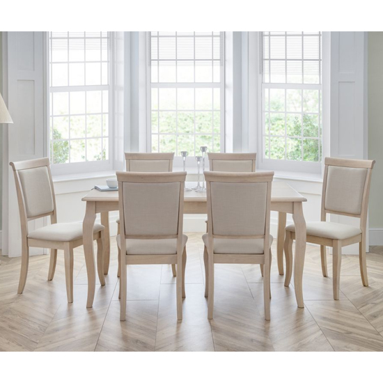 Lyon Dining Set In Pale Oak With 6 Chairs