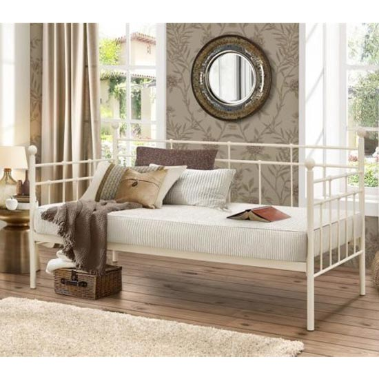 Lyon Steel Daybed In Cream