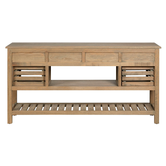Lyox Wooden 6 Drawers Sideboard In Aged Grey_4