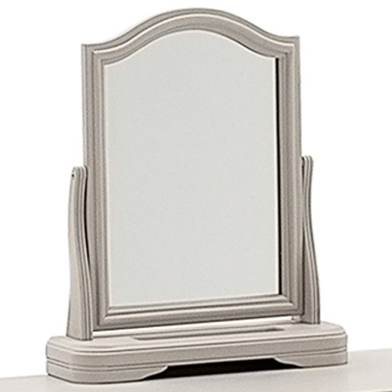 Mabel Vanity Mirror In Taupe Wooden Frame